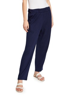 Eileen Fisher Petite Twist Organic Cotton Tapered Ankle Pant