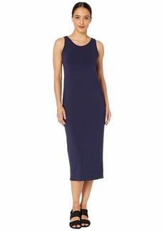Eileen Fisher Petite Viscose Jersey Scoop Neck Dress