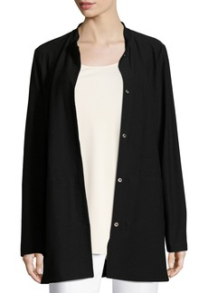 Eileen Fisher Petite Washable Crepe Long Jacket