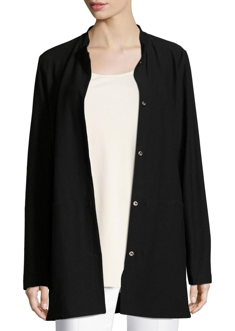 Eileen Fisher Petite Washable Crepe Long Jacket
