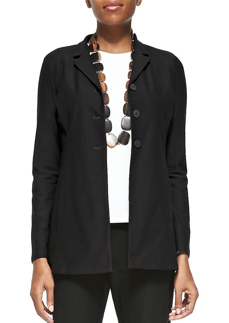 Eileen Fisher Petite Washable-Crepe Long Jacket