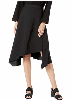 Eileen Fisher Pleated Recycled Polyester Bias Asymmetrical Skirt