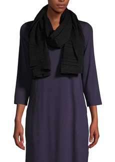 Eileen Fisher Pleated Woven Scarf