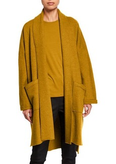 Eileen Fisher Plus Size Boiled Wool Long Kimono Jacket