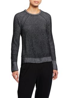 Eileen Fisher Plus Size Crewneck Organic Cotton Chenille Sweater