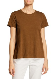 Eileen Fisher Plus Size Crewneck Short-Sleeve Organic Cotton Tee