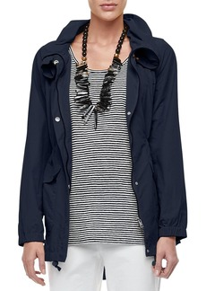 Eileen Fisher Plus Size High-Collar Weather-Resistant Utility Jacket