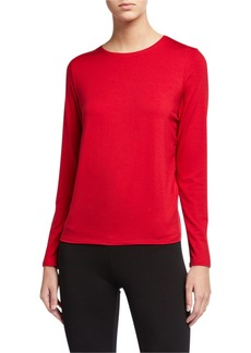 Eileen Fisher Plus Size Jersey Long-Sleeve Tee
