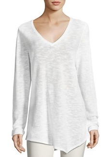 Eileen Fisher Plus Size Long-Sleeve Organic Links Tunic