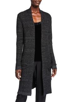 Eileen Fisher Plus Size Merino Wool Sparkle Long Cardigan