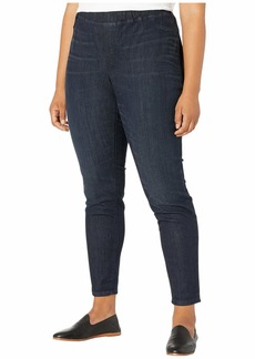Eileen Fisher Plus Size Organic Cotton Soft Stretch Denim Jeggings in Utlilty Blue