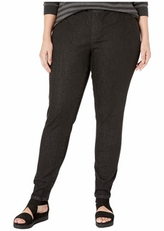 Eileen Fisher Plus Size Organic Cotton Soft Stretch Denim Jeggings in Vintage Black