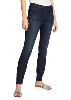 Eileen Fisher Plus Size Organic Cotton Soft Stretch-Denim Leggings