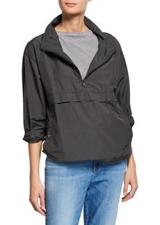 Eileen Fisher Plus Size Organic Cotton/Nylon Pullover Jacket