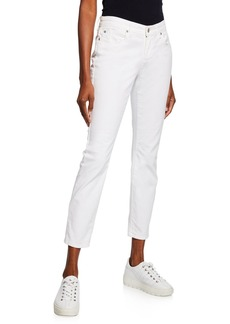 Eileen Fisher Plus Size Organic Skinny Ankle Jeans  White