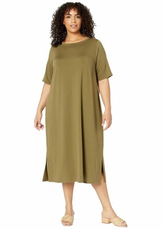 Eileen Fisher Plus Size Roundneck Dress