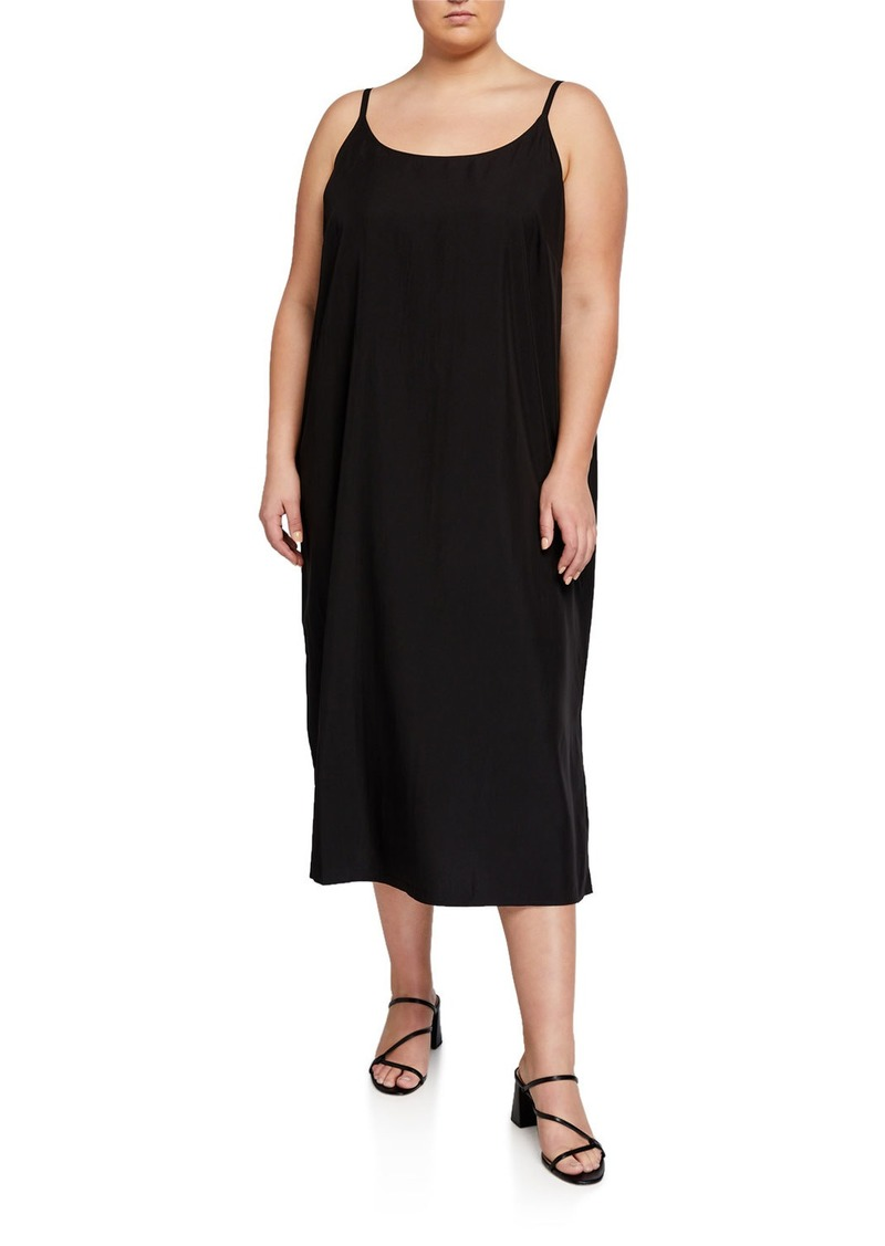 Eileen Fisher Plus Size Scoop-Neck Cami Dress