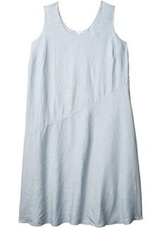 Eileen Fisher Plus Size Scoop Neck Knee Length Dress