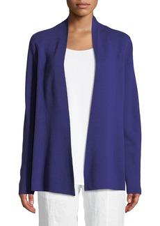 Eileen Fisher Plus Size Silk-Blend Interlock Open-Front Jacket