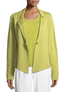 Eileen Fisher Plus Size Silk-Blend Interlock Short Jacket