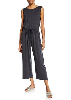 Eileen Fisher Plus Size Sleeveless Drawstring Crop Jumpsuit