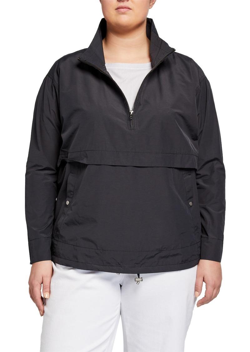 Eileen Fisher Plus Size Stand Collar Quarter-Zip Jacket