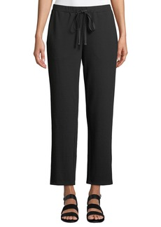 Eileen Fisher Plus Size Travel Ponte Ankle Pants