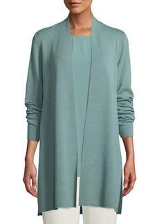 Eileen Fisher Plus Size Ultrafine Merino Straight Long Cardigan