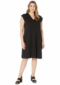 Eileen Fisher Plus Size V-Neck Dress