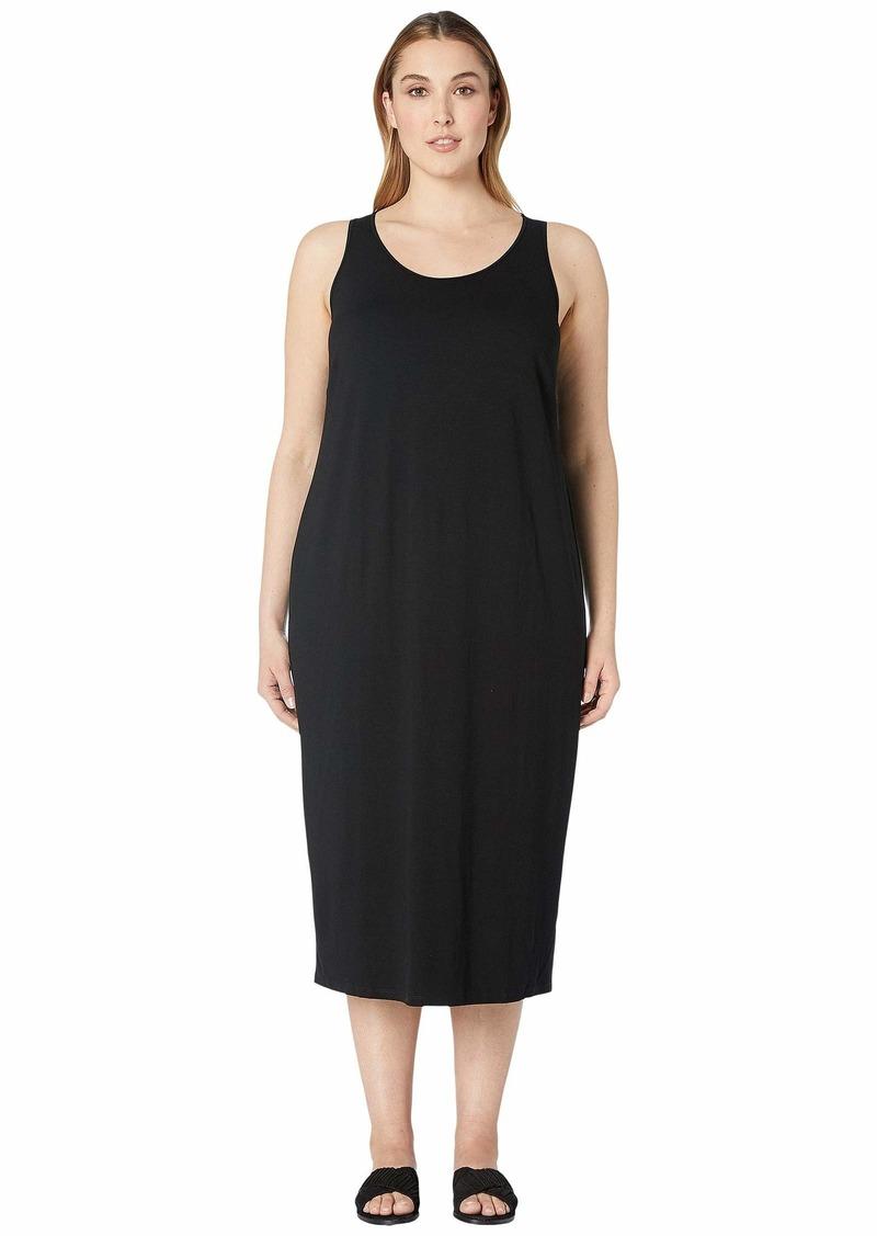 Eileen Fisher Plus Size Viscose Jersey Scoop Neck Dress
