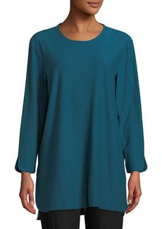 Eileen Fisher Plus Size Washable Crepe Bracelet Tunic