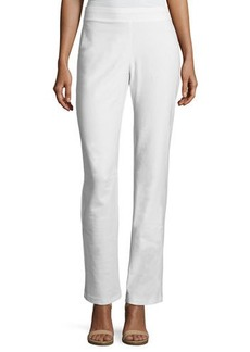 Eileen Fisher Plus Size Washable Stretch-Crepe Boot-Cut Pants