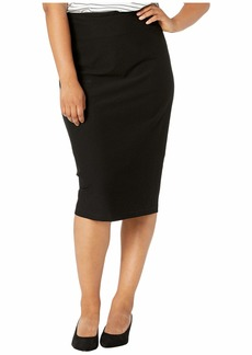 Eileen Fisher Plus Size Washable Stretch Crepe Mid Slim Skirt