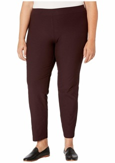 Eileen Fisher Plus Size Washable Stretch Crepe Slim Ankle Pants w/ Yoke
