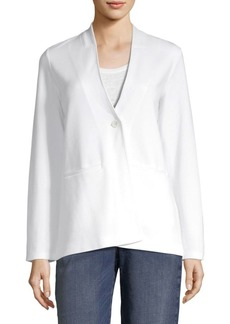 Eileen Fisher Ponte V-Neck Blazer