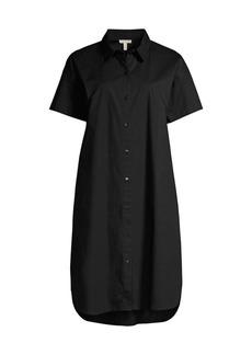 Eileen Fisher Poplin Short-Sleeve Shirtdress