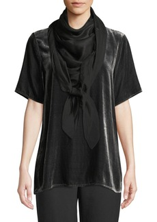 Eileen Fisher Printed Atmospheric Sheen Scarf