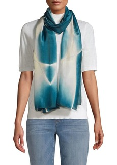 Eileen Fisher Printed Merino Wool Scarf