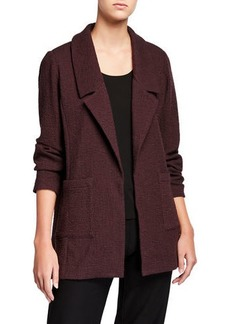 Eileen Fisher Pucker Notch Collar Open-Front Jacket