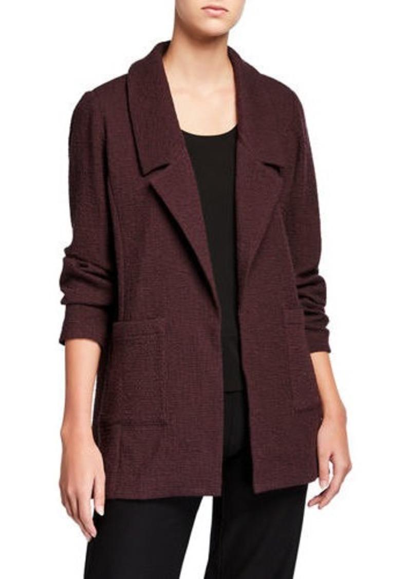 Eileen Fisher Pucker Notch Collar Open-Front Jacket