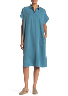 Eileen Fisher Quarter Placket Shirt Dress