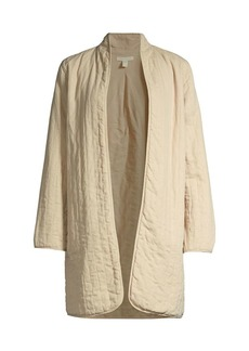 Eileen Fisher Quilted Linen Blend Jacket