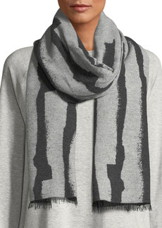 Eileen Fisher Recycled Cotton-Blend Jacquard Streaks Scarf