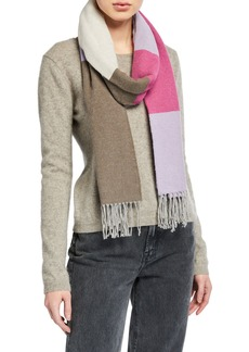 Eileen Fisher Recycled Cotton Block Scarf