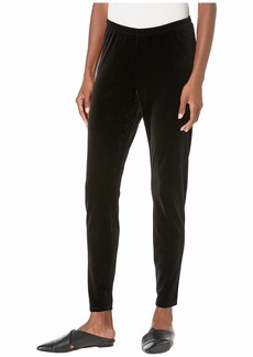 Eileen Fisher Recycled Polyester Stretch Velvet Ankle Leggings