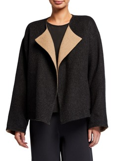 Eileen Fisher Reversible Double Face Short Coat