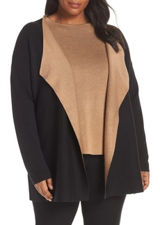Eileen Fisher Reversible Silk Blend Cardigan (Plus Size)