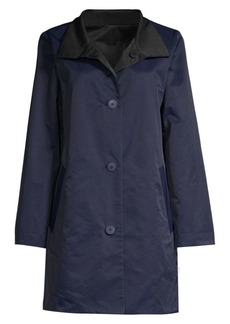 Eileen Fisher Reversible Stand Collar Coat