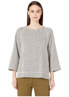 Eileen Fisher Round Neck 3/4 Sleeve Top