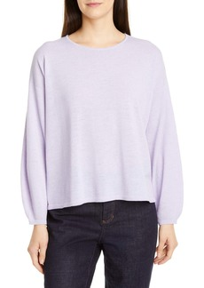 Eileen Fisher Round Neck Box Wool Sweater